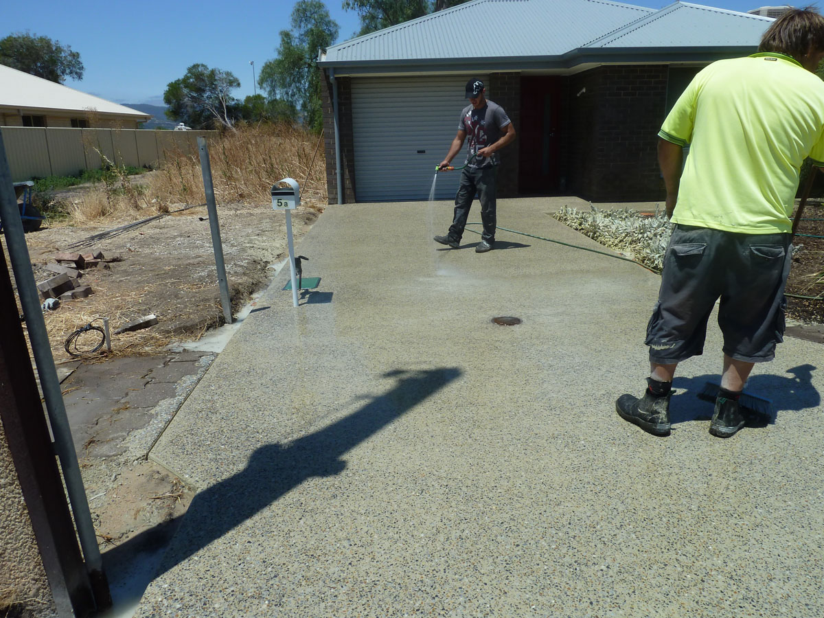Washed Aggregate Psi Pavements Concreting Services